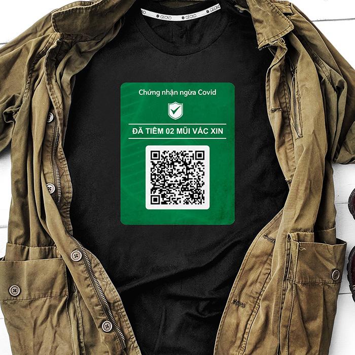 Hướng dẫn thiết kế áo Chứng nhận tiêm chủng Covid, custom theo code cá nhân